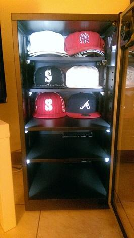 Baseball Cap collection in Eureka Dry Cabinet