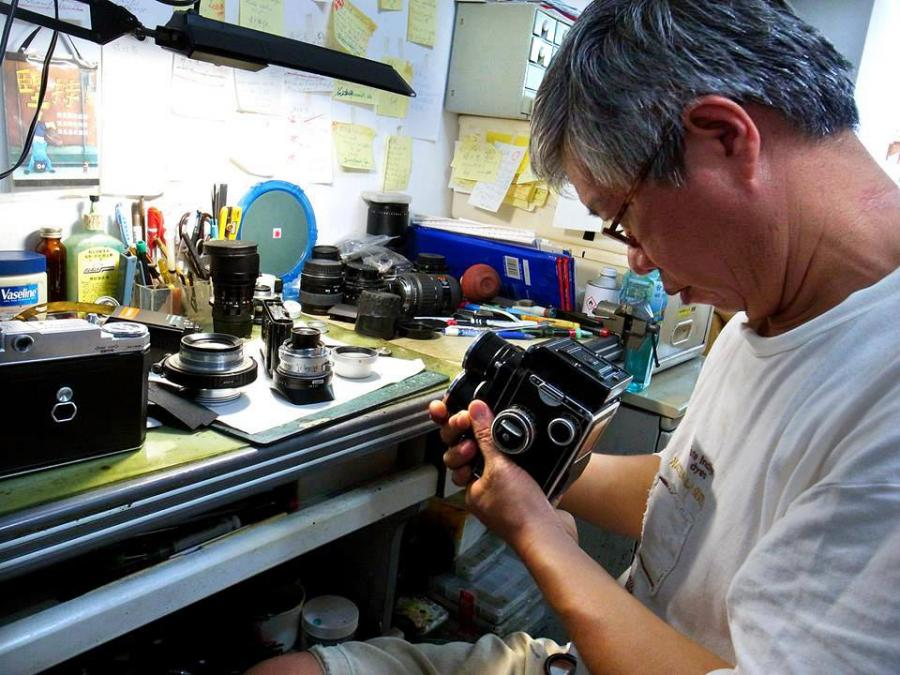 The Camera Doctor, repairing antique cameras.