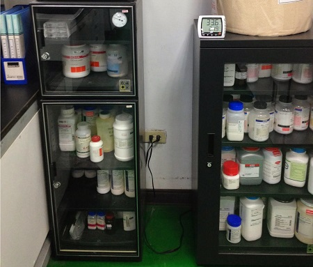 Eureka Dry Tech Lab Auto Desiccator Storing Moisture Sensitive standards, samples, chemicals in the lab