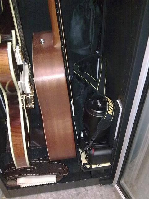 Personal Guitar Storage Cabinet and other accessories.