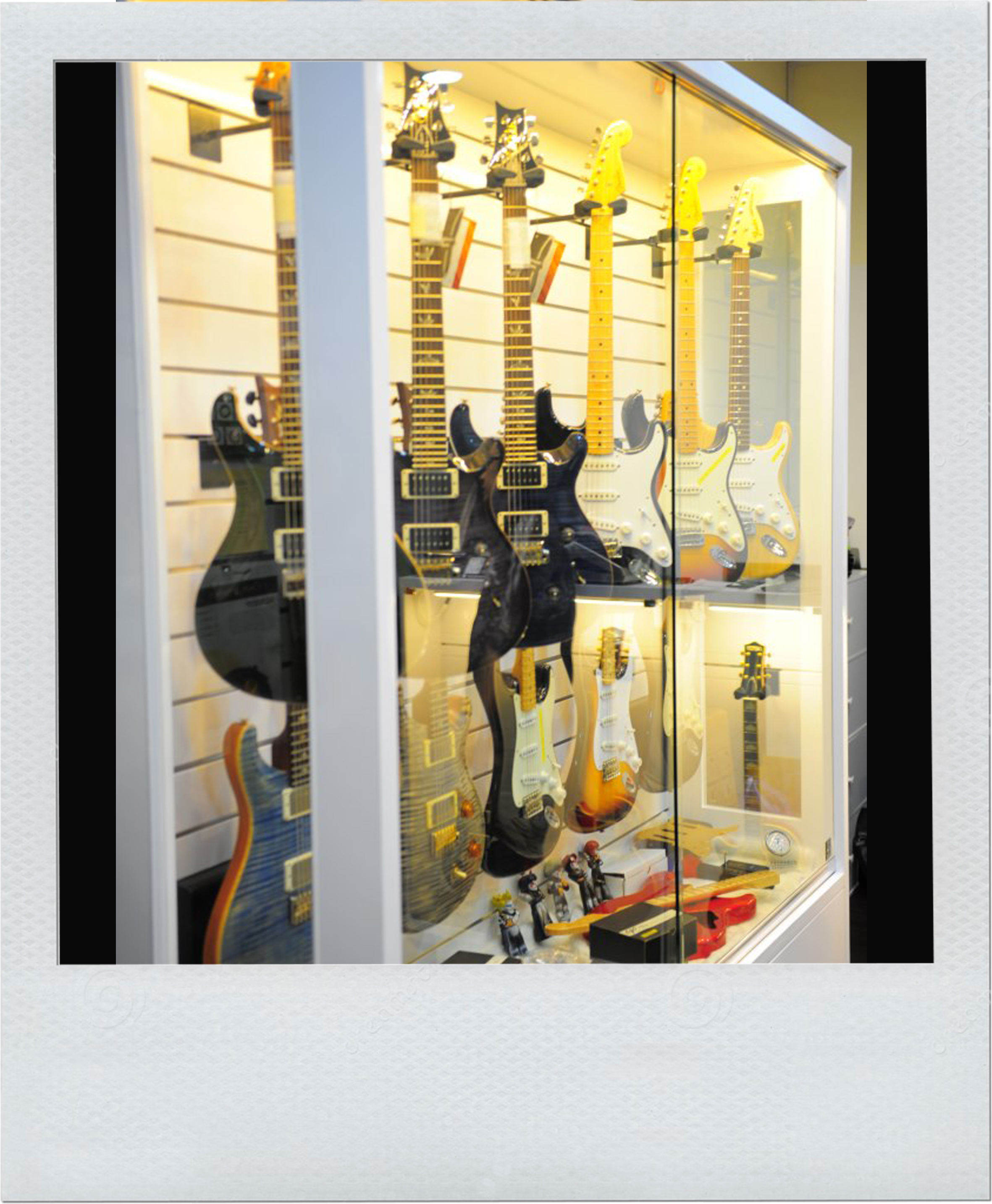 Custom Guitar Storage Display Dry Cabinet