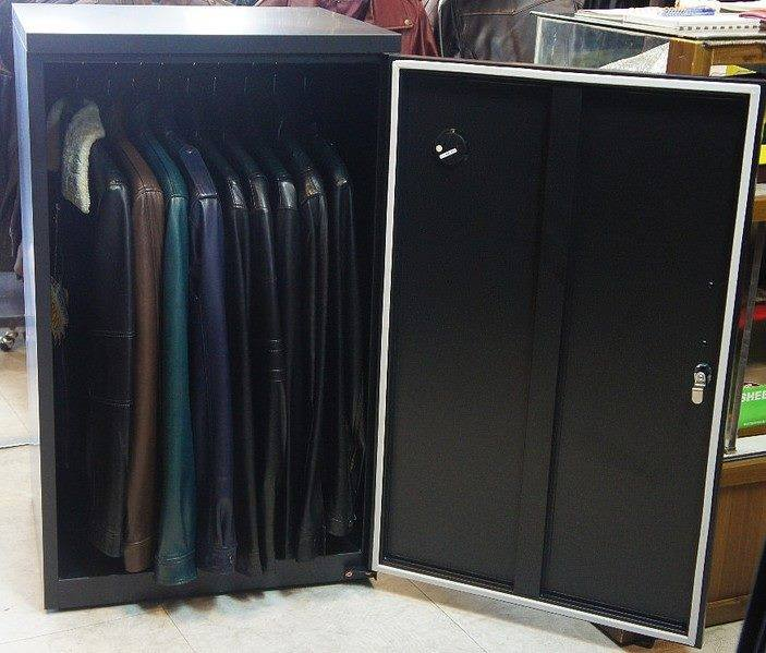 Leather Coats in Eureka Auto Dry Box