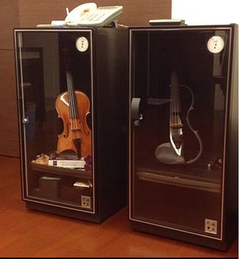 Violin Display and Humidity Proof Storage Cabinet