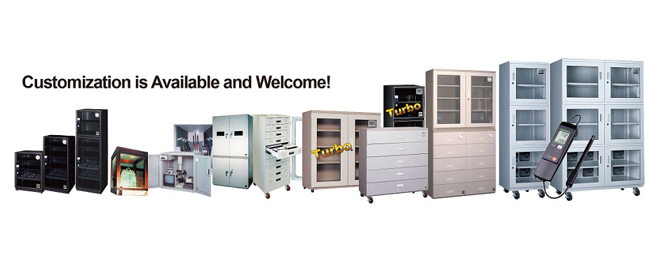 Eureka Dry Tech offers cabinets from 19 liters to 1300 liters, custom cabinets are also available upon request